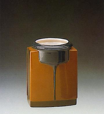 Brown Cuboid Vase Lladro Figurine