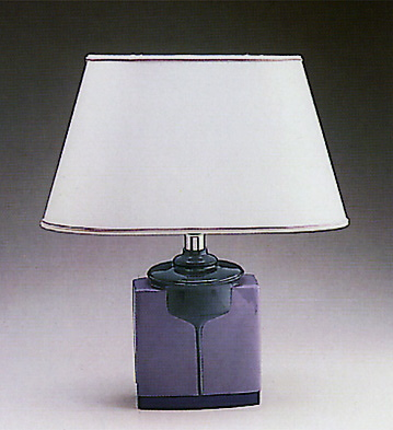 Brown Round Cuboid Lamp Lladro Figurine