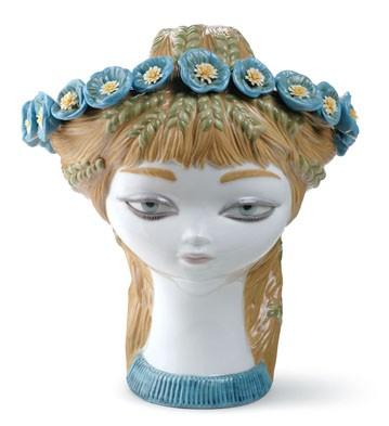 Bucolic Head (color) Lladro Figurine