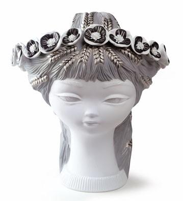 Bucolic Head (white & Silver) Lladro Figurine