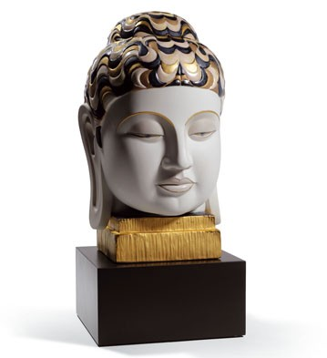 Buddha I (golden And Blue) Lladro Figurine