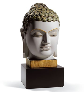 Buddha Ii (golden And Blue) Lladro Figurine