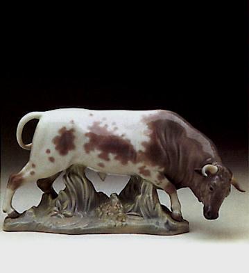 Bull (head Down) Lladro Figurine