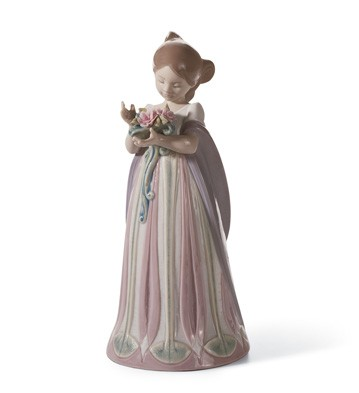 Bundle Of Blossoms Lladro Figurine