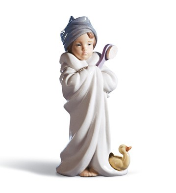 Bundled Bather Lladro Figurine