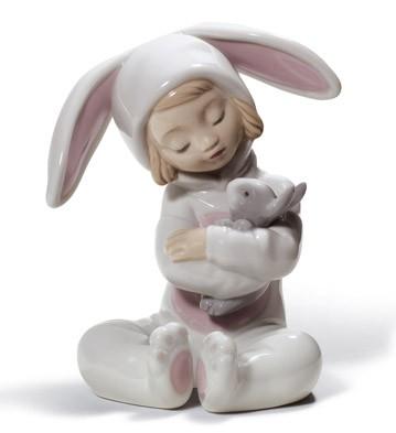 Bunny Hugs Lladro Figurine