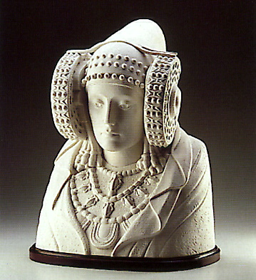 Bust Of Lady From Elche-b Lladro Figurine