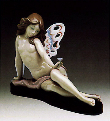Butterfly Girl -b- Lladro Figurine
