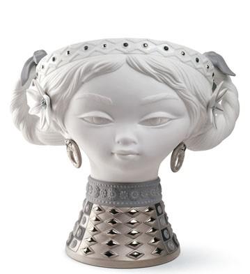 Byzantine Head (white & Silver) Lladro Figurine