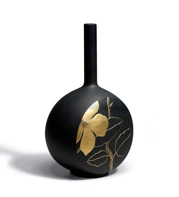 Canvas Vase Flower Twig (black) Lladro Figurine