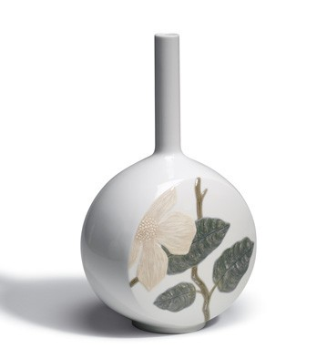 Canvas Vase Flower Twig Lladro Figurine