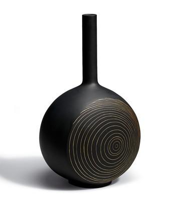 Canvas Vase Tree Rings (black) Lladro Figurine