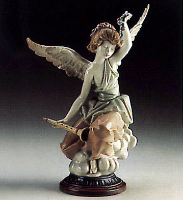 Carefree Angel With Flute Lladro Figurine