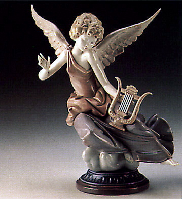 Carefree Angel With Lyre Lladro Figurine