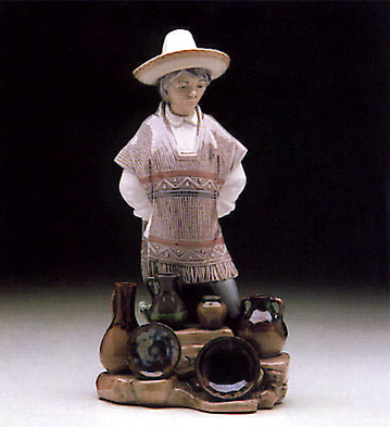 Ceramic Seller Lladro Figurine