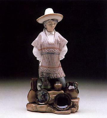 Ceramic Seller Lladro Figurine