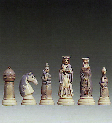 Chess Set Lladro Figurine