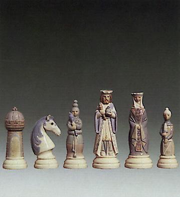Chess Set Lladro Figurine