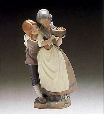 Children With Fruit Lladro Figurine