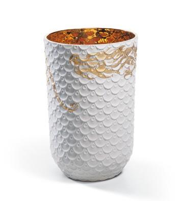 Chinese Dragon Vase Skin(dragon Scale M) Lladro Figurine