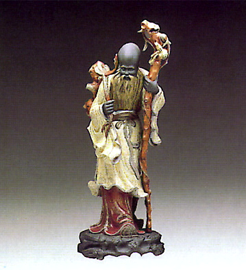 Chinese Farmer W-staff Lladro Figurine