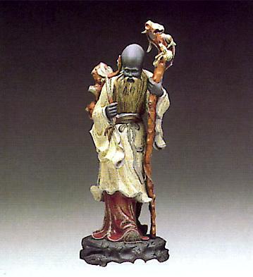 Chinese Farmer W-staff Lladro Figurine