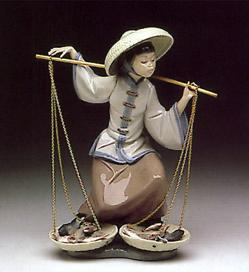 Chinese In The Market Lladro Figurine
