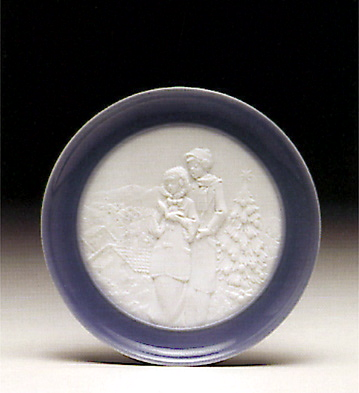 Christmas Melodies Plate Lladro Figurine
