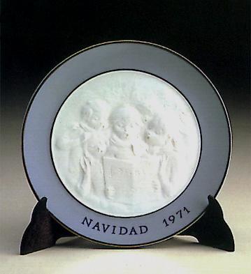Christmas Plate 1.971 Lladro Figurine