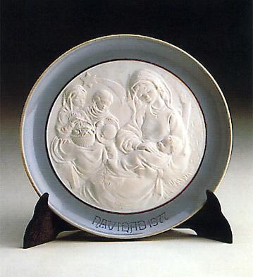 Christmas Plate 1.977 Lladro Figurine