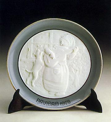 Christmas Plate 1.978 Lladro Figurine