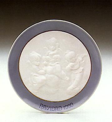 Christmas Plate 1980 Lladro Figurine