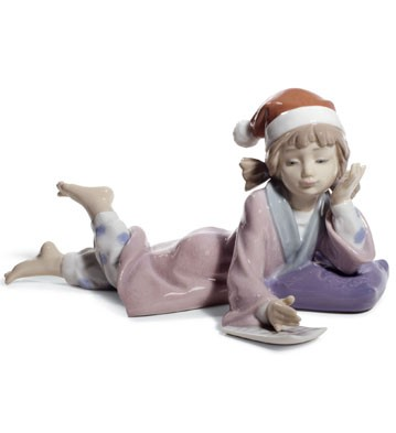 Christmas Wishes Lladro Figurine