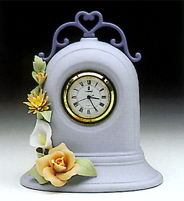 Clock, Blue Lladro Figurine