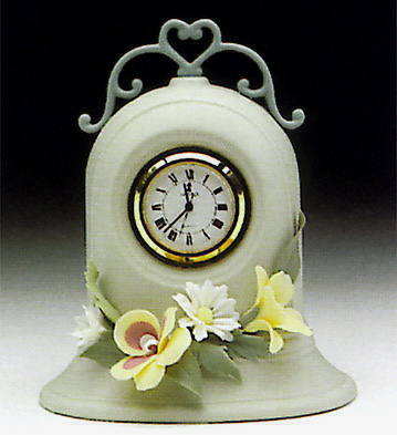Clock, Green Lladro Figurine