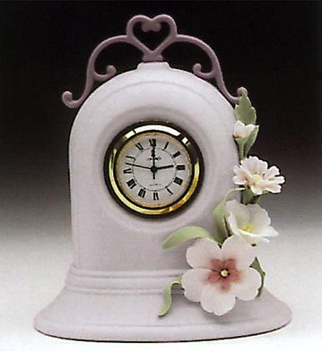 Clock, Violet Lladro Figurine