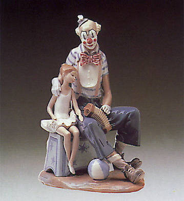 Clown And Girl Lladro Figurine