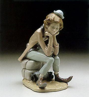 Clown Thinking Lladro Figurine