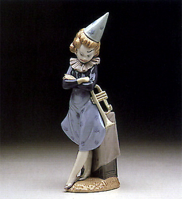 Clown W. Trumpet Lladro Figurine
