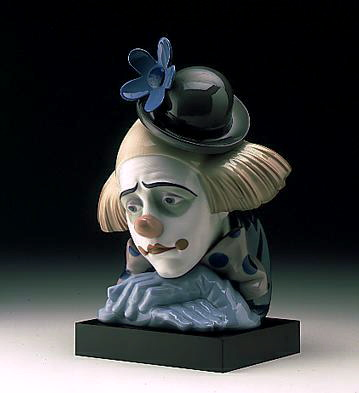 Clown's Head Bowler-hat Lladro Figurine