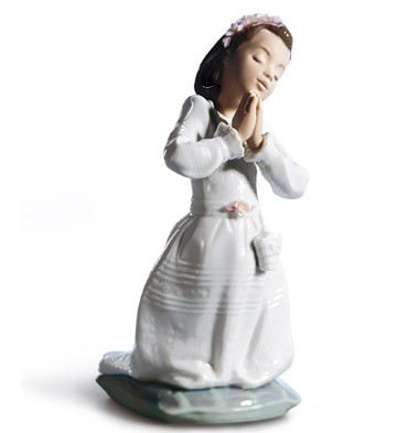 Communion Prayer (girl) Lladro Figurine