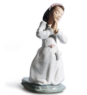 Communion Prayer (girl) Lladro Figurine