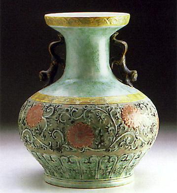 Coral Vase Lladro Figurine