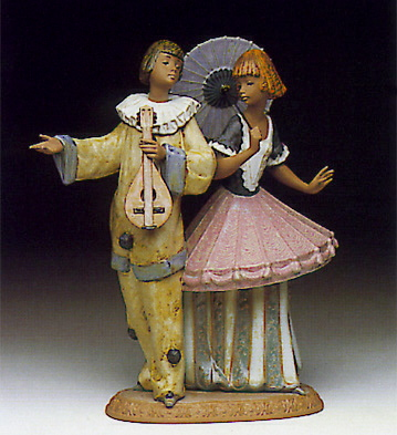 Costumer Couple Lladro Figurine