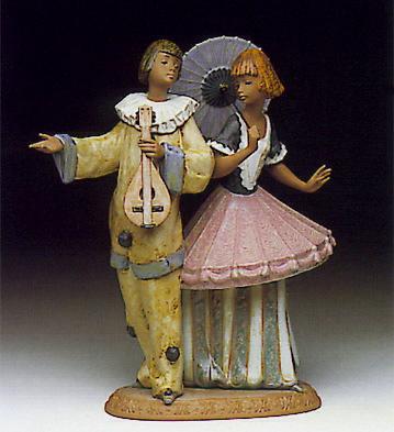 Costumer Couple Lladro Figurine
