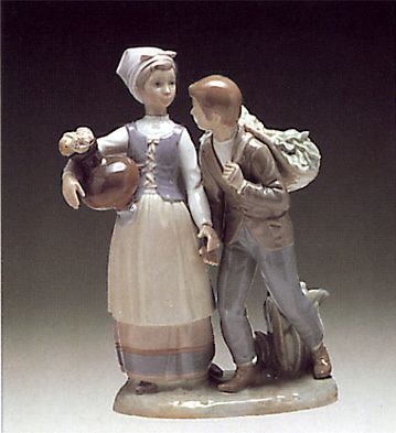 Country Flirt Lladro Figurine