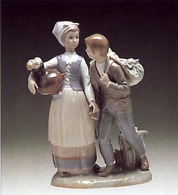 Country Flirt Lladro Figurine