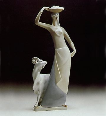 Country Woman Lladro Figurine