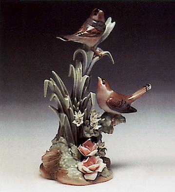 Couple Of Birds Lladro Figurine