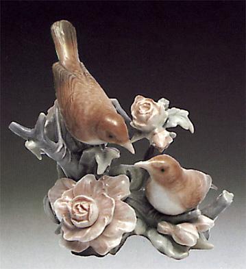 Couple Of Nightingales Lladro Figurine